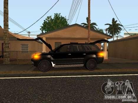 Jeep Grand Cherokee Black para GTA San Andreas traseira esquerda vista
