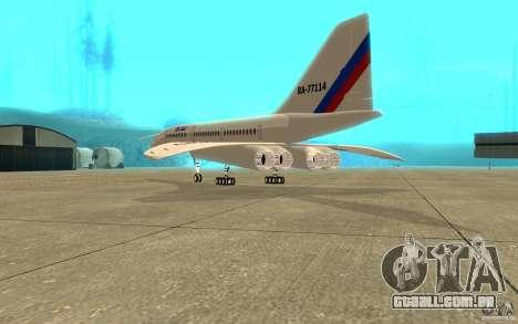 Tu-144 para GTA San Andreas vista direita