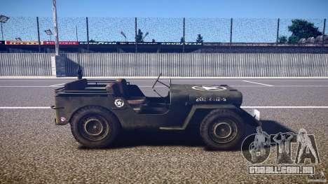 Walter Military (Willys MB 44) v1.0 para GTA 4 vista interior