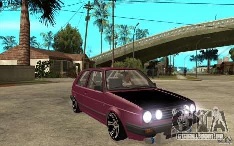 VW Golf 2 GTI para GTA San Andreas vista traseira