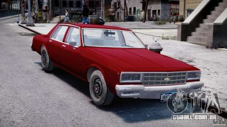 Chevrolet Impala 1983 v2.0 para GTA 4 vista de volta