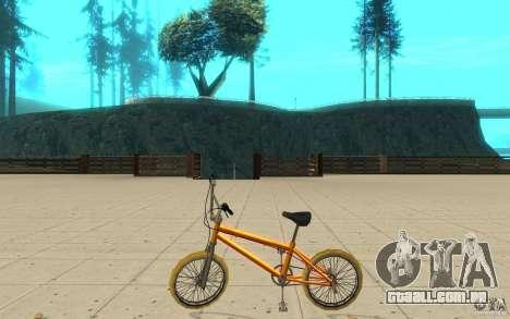 Zeros BMX YELLOW tires para GTA San Andreas esquerda vista