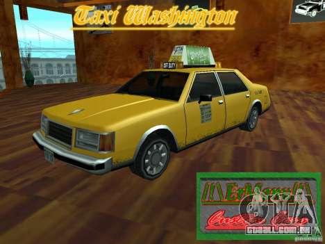 Taxi Washington para GTA San Andreas traseira esquerda vista