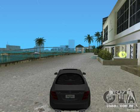 Mercedess Benz CL 65 AMG para GTA Vice City deixou vista