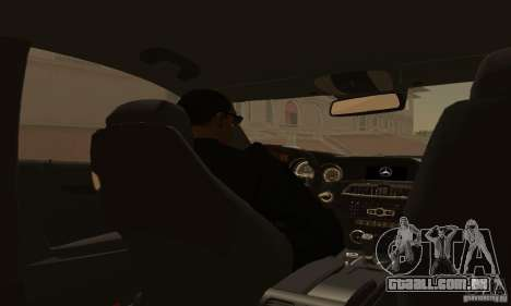 Mercedes-Benz C63 AMG para vista lateral GTA San Andreas