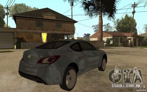 Hyundai Genesis Coupe 2010 para GTA San Andreas vista direita