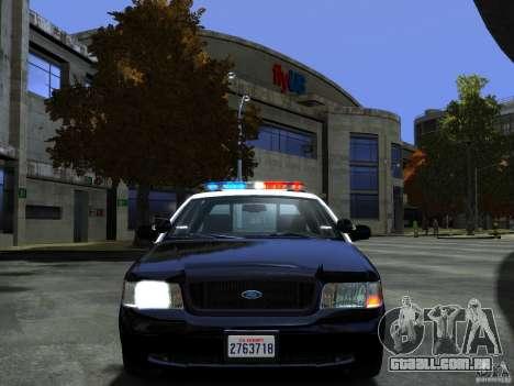 Ford Crown Victoria LAPD [ELS] para GTA 4 vista de volta