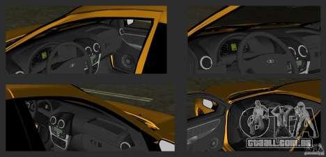 Lada Granta v2.0 para GTA Vice City vista lateral