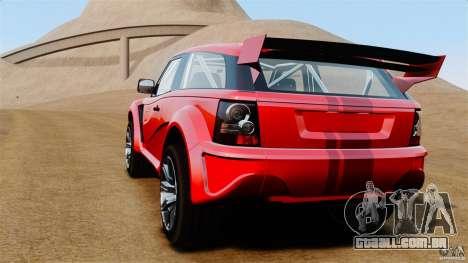 Bowler EXR S 2012 para GTA 4 traseira esquerda vista