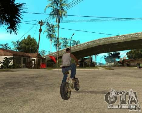 WideWheel-BMX 1 LOUIS VUITTON Version para GTA San Andreas traseira esquerda vista