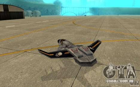 Falcão ar comando e Conquer 3 para GTA San Andreas vista direita