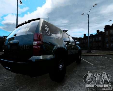 Chevrolet Tahoe Hungarian Vam-Zoll Custom para GTA 4 esquerda vista