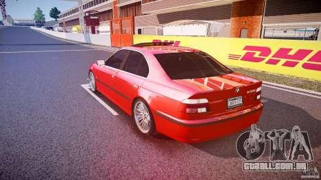 BMW 530I E39 stock chrome wheels para GTA 4 traseira esquerda vista