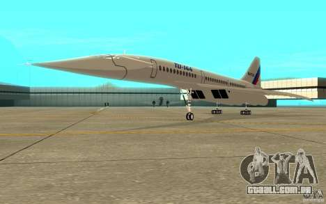 Tu-144 para GTA San Andreas esquerda vista