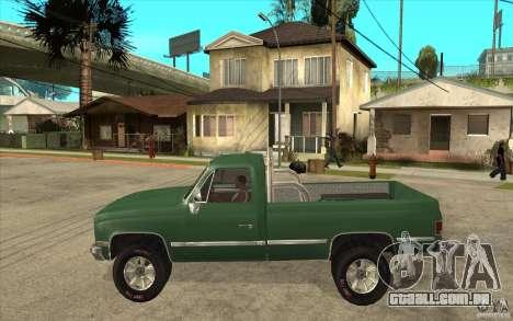 GMC Sierra 1986 para GTA San Andreas traseira esquerda vista