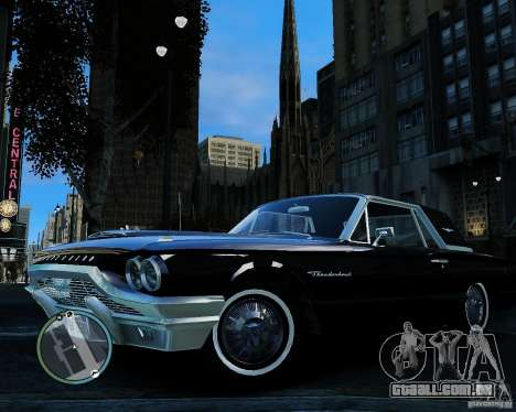 Ford ThunderBird 1964 para GTA 4 vista de volta