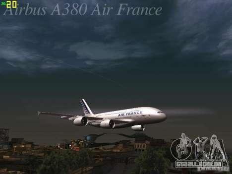 Airbus A380-800 Air France para as rodas de GTA San Andreas