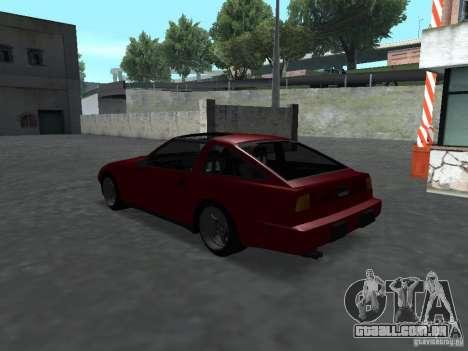 Nissan 300ZX para GTA San Andreas traseira esquerda vista