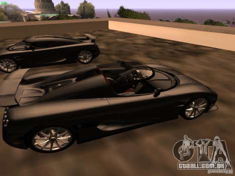 Koenigsegg CCXR Edition para GTA San Andreas vista direita