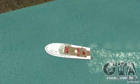 Sports Fishing Boat para GTA San Andreas traseira esquerda vista