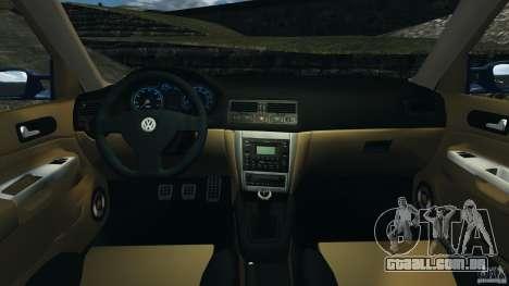 Volkswagen Golf 4 R32 2001 v1.0 para GTA 4 vista de volta