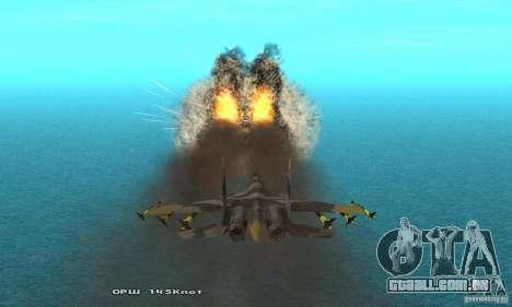 Su-37 Terminator para vista lateral GTA San Andreas