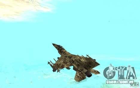 F16C Fighting Falcon para GTA San Andreas esquerda vista