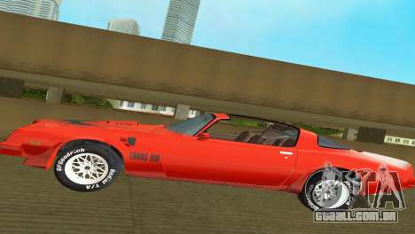 Pontiac Trans Am 77 para GTA Vice City vista lateral