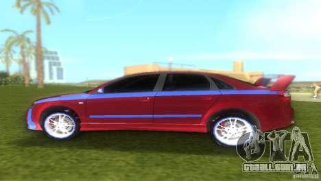 Audi A4 STREET RACING EDITION para GTA Vice City vista traseira esquerda