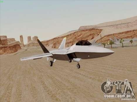 FA22 Raptor para GTA San Andreas