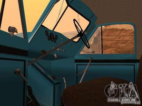 Caminhão de lixo de GAZ-51 para GTA San Andreas vista traseira