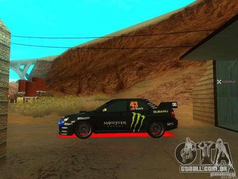 Subaru Impreza Gymkhana Practice para GTA San Andreas vista direita