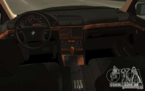BMW 750i E38 1998 M-Packet para GTA 4 vista de volta