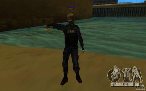 HQ skin S.W.A.T para GTA San Andreas segunda tela