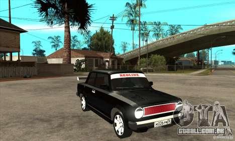 VAZ 2101 2 portas coupe para GTA San Andreas vista traseira