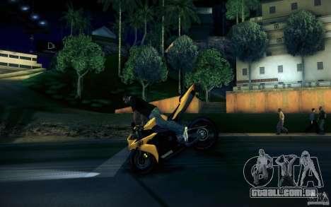 Yamaha YZF R1 para GTA San Andreas vista superior