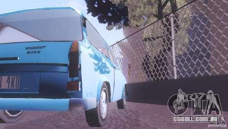 Trabant 601S para GTA San Andreas vista interior