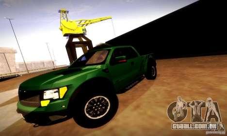 Ford F-150 SVT Raptor V1.0 para GTA San Andreas vista superior