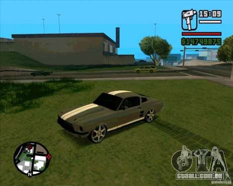 Ford Mustang 67 HotRot para GTA San Andreas vista direita