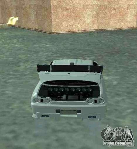 Nissan Skyline R32 GT-R para GTA San Andreas vista interior