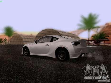 Toyota 86 TRDPerformanceLine 2012 para GTA San Andreas vista direita