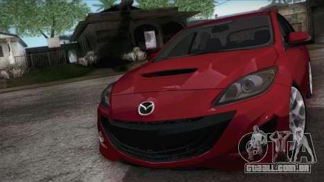 Mazda Mazdaspeed3 2010 para GTA San Andreas vista direita