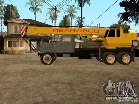 KrAZ caminhão para GTA San Andreas esquerda vista