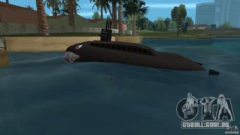 Vice City Submarine with face para GTA Vice City deixou vista