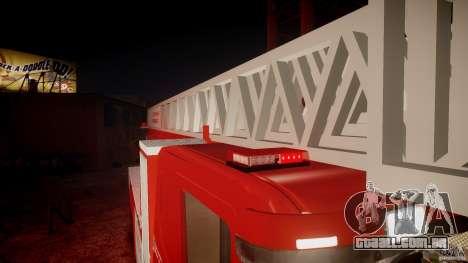 Scania Fire Ladder v1.1 Emerglights red [ELS] para GTA 4 motor