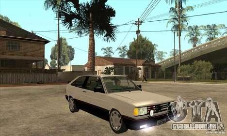 VW Gol GTS 1989 para GTA San Andreas vista traseira