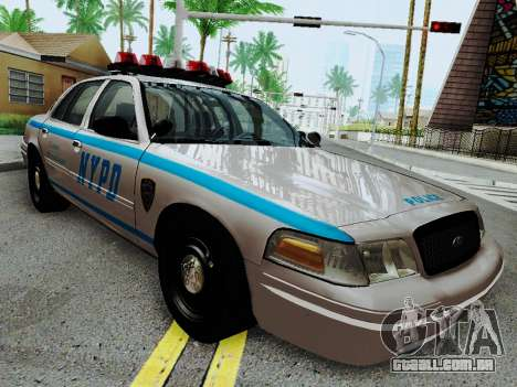 Ford Crown Victoria 2003 NYPD White para GTA San Andreas vista traseira
