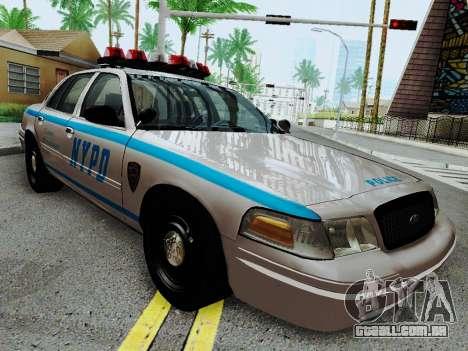 Ford Crown Victoria 2003 NYPD White para GTA San Andreas vista traseira