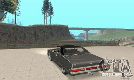 Mercury Marquis 2dr 1971 para GTA San Andreas traseira esquerda vista