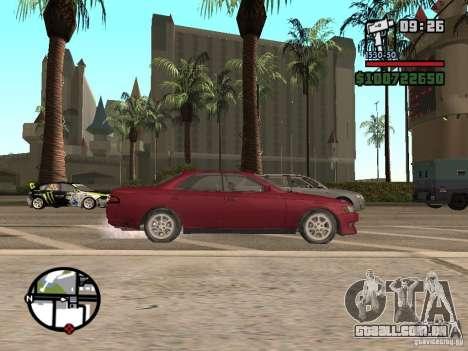 Toyota Mark II para GTA San Andreas traseira esquerda vista